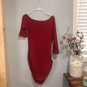 NWOT Asymmetrical red party dress